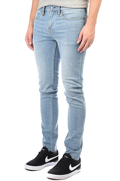 Джинсы узкие DC Worker Slim Jea Light Indigo Bleach джинсы узкие dc washed slim jea pant light stone