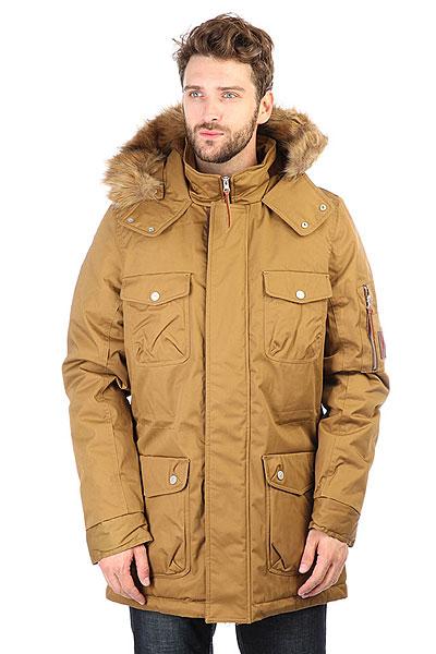 Куртка утепленная Extra Robert BronzeМужская зимняя парка EXTRA Robert классического силуэта, выполненная из непромокаемой ткани и рассчитанная на холодную зиму.Характеристики:Длина изделия - выше середины бедра. Для лучшей посадки по фигуре изнутри предусмотрен хлопковый шнур. Опушка капюшона из искусственного меха отстегивается. Куртка застегивается на металлическую молнию и кнопки. Клапаны карманов также снабжены кнопками. Именная фурнитура выполнена из металла.<br><br>Цвет: Светло-коричневый<br>Тип: Куртка утепленная<br>Возраст: Взрослый<br>Пол: Мужской