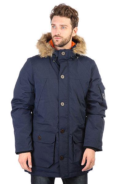 Куртка парка S.G.M. Svalbard Dk.blueМужская куртка берлинской марки Such a Great Moment, выполненная из прочной ткани Oxford с легким, внутренним наполнителем. Лаконичный дизайн, прямой крой, застёжка на молнии с защитной планкой и эффектная контрастная подкладка.Характеристики:Капюшон с регулируемым шнуром. Два накладных кармана для рук и дополнительный карман на предплечье. Рукава с эластичными манжетами и кулиска на талии. Куртка представлена в однотонной расцветке, украшенной небольшой нашивкой с логотипом бренда.<br><br>Цвет: синий<br>Тип: Куртка парка<br>Возраст: Взрослый<br>Пол: Мужской