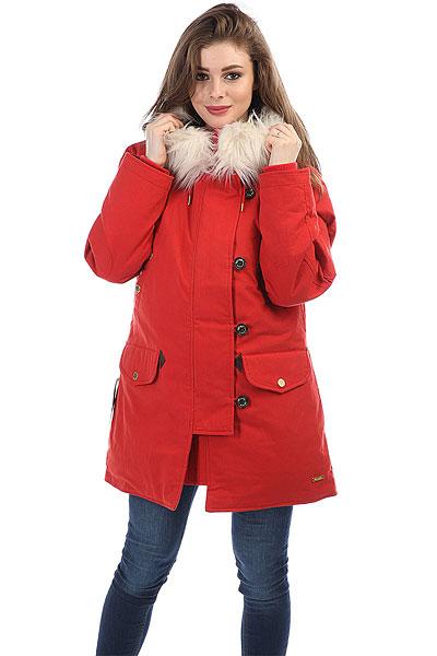 Куртка парка женская Extra Lora RedЖенская куртка-аляска с пуховым утеплителем для самой холодной зимы.Технические характеристики: Подкладка из хлопка.Капюшон со съемной меховой отделкой.Карманы для рук, карман на рукаве и потайной карман.Внутренняя регулировка талии.Эластичные трикотажные манжеты.Ветрозащитный клапан на пуговицах.<br><br>Цвет: красный<br>Тип: Куртка парка<br>Возраст: Взрослый<br>Пол: Женский