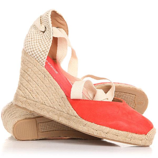 Сандалии Soludos Tall Wedge Linen Blush<br><br>Цвет: красный,бежевый,белый<br>Тип: Сандалии<br>Возраст: Взрослый<br>Пол: Женский