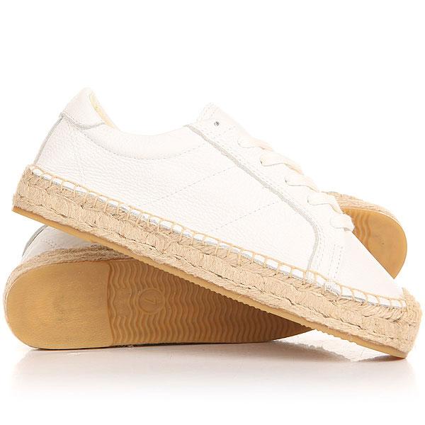 Кеды кроссовки низкие женские Soludos Platform Tennis Sneaker White цены онлайн