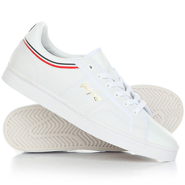 Кеды кроссовки низкие Fred Perry B721 Leather Clean White