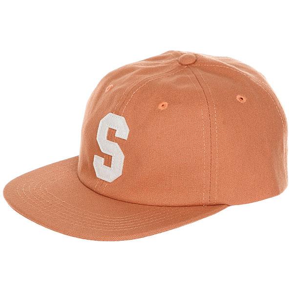 Бейсболка с прямым козырьком Stussy Felt S Canvas Strapback Cap Orange<br><br>Цвет: оранжевый<br>Тип: Бейсболка с прямым козырьком<br>Возраст: Взрослый