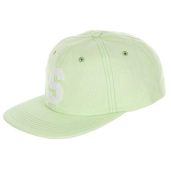 Бейсболка с прямым козырьком Stussy Felt S Canvas Strapback Cap Green<br><br>Цвет: Светло-зеленый<br>Тип: Бейсболка с прямым козырьком<br>Возраст: Взрослый<br>Пол: Мужской