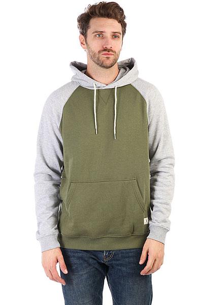 Толстовка кенгуру DC Rebel Raglan Vintage Green<br><br>Цвет: зеленый,серый<br>Тип: Толстовка кенгуру<br>Возраст: Взрослый<br>Пол: Мужской