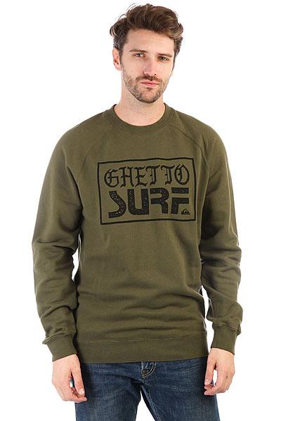 Толстовка классическая Quiksilver Ghettosurfcrew Olive Night<br><br>Цвет: зеленый<br>Тип: Толстовка классическая<br>Возраст: Взрослый<br>Пол: Мужской