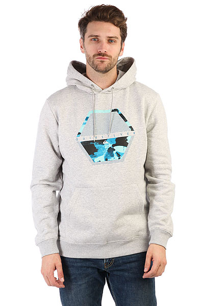 Толстовка кенгуру Quiksilver Comfortplacehoo Light Grey Heather толстовка кенгуру quiksilver keller hood wild ginger