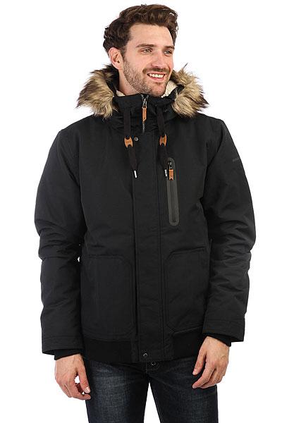 Куртка зимняя Quiksilver Arris BlackВдохновленная одеждой для суровых горных походов, куртка Quiksilver Arris поможет в достатке сохранить ценное тепло даже при самых низких температурах. Приятная подкладка из шерпа-флиса в сочетании с серьезным и проверенным утеплителем3m® Thinsulate® позволит забыть о холоде, а съемная опушка капюшона и дополнительные трикотажные манжеты защитят от ветра, добавляя такого необходимого в мороз комфорта.Характеристики:Утеплитель3m® Thinsulate® (240 г, 180 г рукава, 140 г капюшон). Мягкая приятная подкладка из шерпа-флиса. Съемный регулируемый капюшон. Швы проклеены в стратегических местах. Съемная опушка капюшона из искусственного меха. Вертикальный нагрудный карман на молнии. Два кармана на рук с клапаном. Карман с клапаном на рукаве. Нашивка с фирменным логотипом на рукаве и на кармане. Внутренние трикотажные манжеты.<br><br>Цвет: черный<br>Тип: Куртка зимняя<br>Возраст: Взрослый<br>Пол: Мужской
