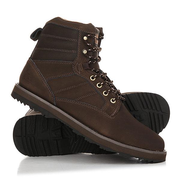 Ботинки зимние Quiksilver Bronk Boot BrownЗимние ботинки Bronk. Характеристики:Погодостойкий кожаный верх. Теплая подкладка. Теплый язык со вставкой. Система быстрой шнуровки.Цепкая подошва из каучука с рисунком.<br><br>Цвет: Темно-коричневый<br>Тип: Ботинки зимние<br>Возраст: Взрослый<br>Пол: Мужской