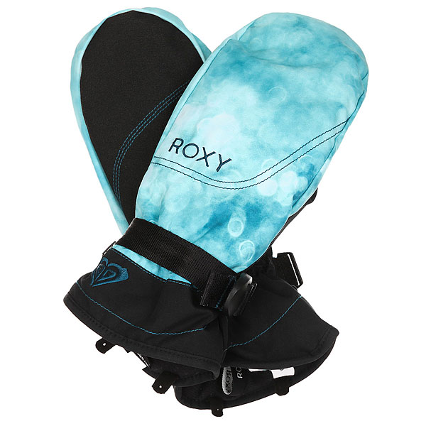 Варежки женские Roxy Jetty Mitt Ink Blue Solargradie варежки женские roxy victoria mitt hawaian ocean
