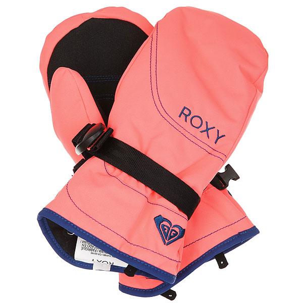 Варежки детские Roxy Rx Jett Neon Grapefruit варежки сноубордические детские roxy jett gir mitt bright white hackney