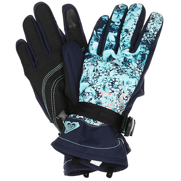 Перчатки женские Roxy Jetty Gloves Aruba Blue Kaleidos