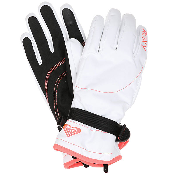 Перчатки женские Roxy Jetty Bright White