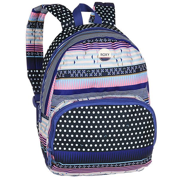 Рюкзак городской женский Roxy Always Core Dress Blues SmallПростой рюкзак для города в ярком дизайне.Технические характеристики: Яркий сплошной принт.Одно основное отделение.Передний карман на молнии.Мягкие и регулируемые плечевые ремни.Ручка.Хлопковая нашивка с логотипом.<br><br>Цвет: мультиколор<br>Тип: Рюкзак городской<br>Возраст: Взрослый<br>Пол: Женский