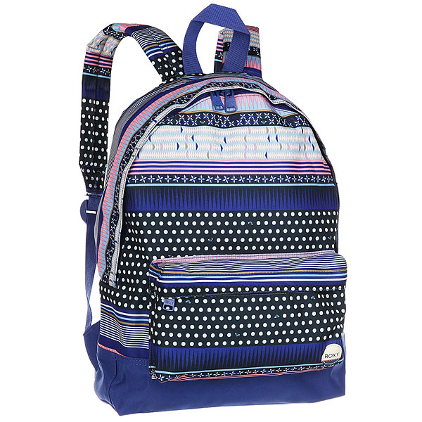 Рюкзак городской женский Roxy Sugar Baby Dress Blues SmallКомпактный женский рюкзак Sugar Baby из новой коллекции ROXY.Технические характеристики: Яркий дизайн.Одно основное отделение на молнии.Передний карман для аксессуаров.Мягкие лямки и ручка для переноски.Нашивка с логотипом.<br><br>Цвет: мультиколор<br>Тип: Рюкзак городской<br>Возраст: Взрослый<br>Пол: Женский