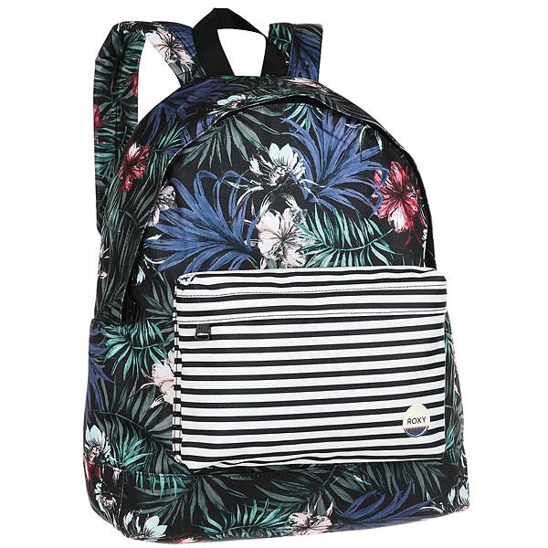 Рюкзак городской женский Roxy Beyoung Anthracite SwimМолодежный рюкзак среднего размера Be Young от Roxy.Технические характеристики: Сплошной принт.Одно основное отделение.Карман для аксессуаров на молнии.Набивные заплечные лямки и удобная набивная спинка.С ручкой.Нашивка ROXY.<br><br>Цвет: мультиколор<br>Тип: Рюкзак городской<br>Возраст: Взрослый<br>Пол: Женский