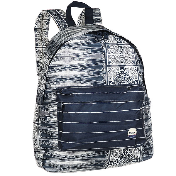 Рюкзак городской женский Roxy Beyoung Dress BluesМолодежный рюкзак среднего размера Be Young от Roxy.Технические характеристики: Сплошной принт.Одно основное отделение.Карман для аксессуаров на молнии.Набивные заплечные лямки и удобная набивная спинка.С ручкой.Нашивка ROXY.<br><br>Цвет: синий,белый<br>Тип: Рюкзак городской<br>Возраст: Взрослый<br>Пол: Женский