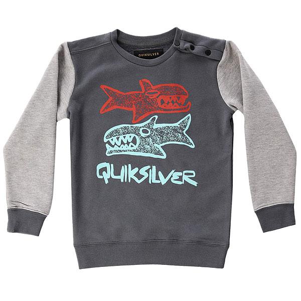 Толстовка классическая детская Quiksilver Dblesharkcrby Iron Gate<br><br>Цвет: серый<br>Тип: Толстовка классическая<br>Возраст: Детский