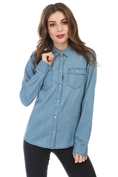 Рубашка женская Roxy Lightofdown Medium Blue<br><br>Цвет: синий<br>Тип: Рубашка<br>Возраст: Взрослый<br>Пол: Женский