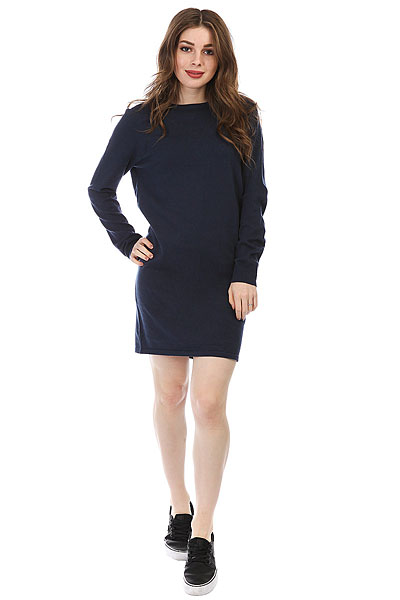 Платье женское Roxy Winter Story Dress Blues Heather кошелек женский roxy write a song dress blues