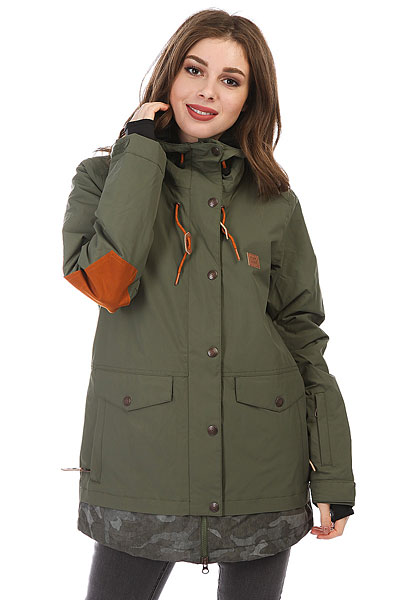 Куртка утепленная женская DC Riji Beetle<br><br>Цвет: зеленый<br>Тип: Куртка утепленная<br>Возраст: Взрослый<br>Пол: Женский