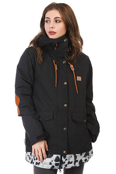 Куртка утепленная женская DC Riji BlackСноубордическая куртка DCRiji станет Вашим отличным спутником на любом рельефе - водостойкая и паропроницаемая верхняя ткань10K DC WEATHER DEFENSE в сочетании с утеплителем и удобными эластичными манжетами защитит Вас от холода в самые снежные дни, а внутренний медиа-карман позволит наслаждаться любимой музыкой во время катания.Характеристики:Удлиненный крой. Утеплитель: туловище - 80 г, рукава - 40 г. Подкладкаиз тафты. Полностью проклеенные швы. Вентиляция подмышками. Два нагрудных кармана на молнии. Внутренний сетчатый карман для маски. Внутренний медиа-карман на молнии. Система крепления куртки к штанам.Карман на рукаве. Регулируемый в двух направлениях капюшон.Регулируемые на липучке манжеты. Снегозащитная юбка с эластичной вставкой из лайкры. Утягивающийся подол. Два кармана для рук с клапанами.<br><br>Цвет: черный<br>Тип: Куртка утепленная<br>Возраст: Взрослый<br>Пол: Женский