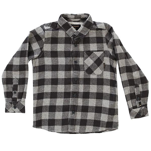Рубашка в клетку детская Quiksilver Motherflyflaboy Tarmac Motherfly<br><br>Цвет: серый,черный<br>Тип: Рубашка в клетку<br>Возраст: Детский