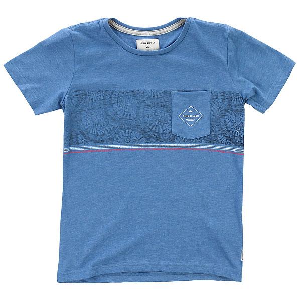 Футболка детская Quiksilver Tokanuiboy Federal Blue<br><br>Цвет: синий<br>Тип: Футболка<br>Возраст: Детский