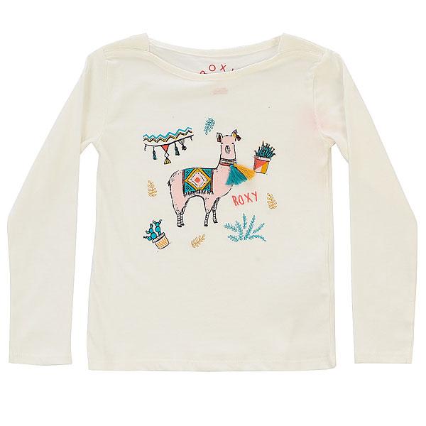 Лонгслив детский Roxy Readmestory K Marshmellow<br><br>Цвет: белый<br>Тип: Лонгслив<br>Возраст: Детский