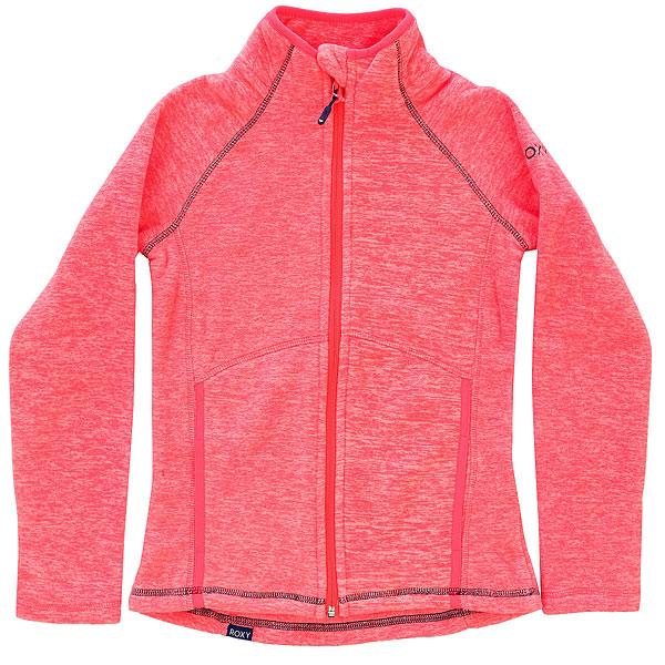 Толстовка классическая детский Roxy Harmony Girl G Neon Grapefruit<br><br>Цвет: розовый<br>Тип: Толстовка классическая<br>Возраст: Детский