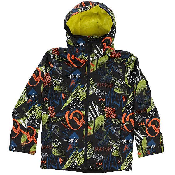 Куртка утепленная детская Quiksilver Mission Pr Yo J B Snjt Black Thunderbolt Ki куртка quiksilver mission irishplaid ins jacket irishplaid
