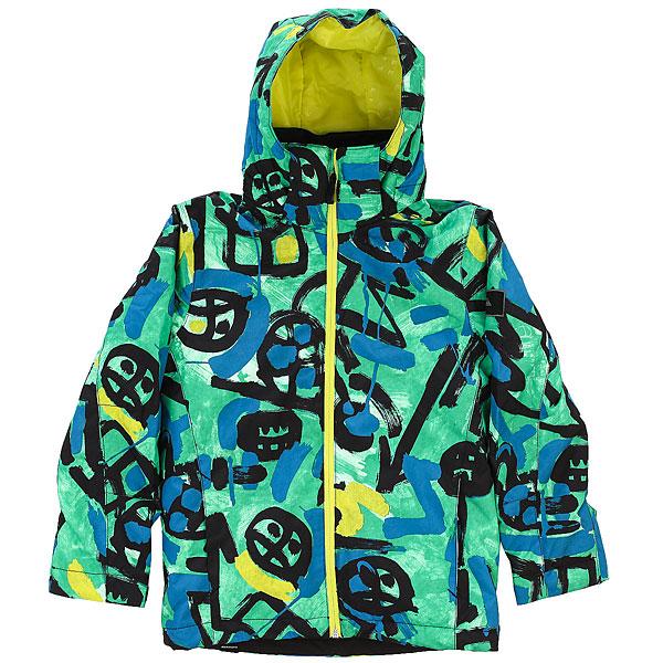Куртка утепленная детская Quiksilver Mission Pr Yo J B Snjt Arkaid Green куртка quiksilver mission irishplaid ins jacket irishplaid