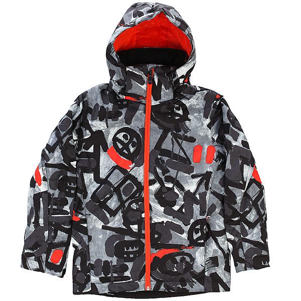 Куртка утепленная детская Quiksilver Mission Pr Yo J B Snjt Arkaid Black & White куртка quiksilver mission irishplaid ins jacket irishplaid