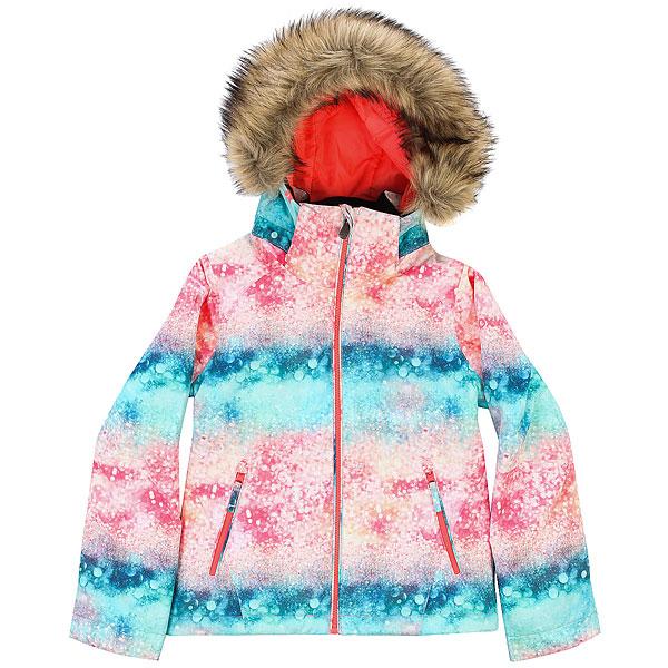куртка женская roxy jet ski цвет синий erjtj03124 bfk9 размер s 42 Куртка утепленная детская Roxy Jet Ski Girl G Snjt Neon Grapefruit_sola