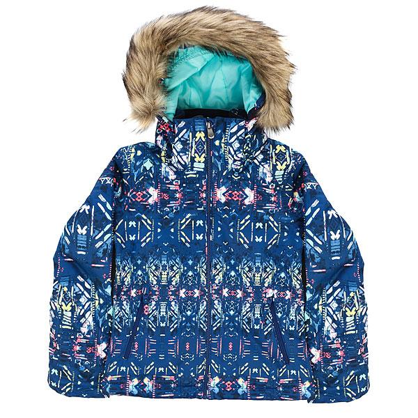 Куртка утепленная детская Roxy Jet Ski Girl G Snjt Sodalite Blue_haveliКуртка с ярким дизайном, привлекающим внимание, а также с впечатляющим набором технологий, призванных обеспечить Вашему ребенку максимальный комфорт при катании.Характеристики:Влагостойкая ткань Dry Flight 10K (10,000мм/10,000г). Утеплитель: 200 г тело / 140 г рукава / 60 г капюшон. Подкладкаиз тафты и трикотажа с начёсом. Зауженный крой. Проклеенные критические швы.Съемный капюшон. Съемный мех на капюшоне. Медиа-карман.Снегозащитная юбка. Регулируемые внешние манжеты на липучке.Внутренний карман для маски. Внутренние манжеты из лайкры в рукавах.Сетчатые карманы для вентиляции. Карман для ски-пасса на молнии на рукаве.<br><br>Цвет: мультиколор<br>Тип: Куртка утепленная<br>Возраст: Детский