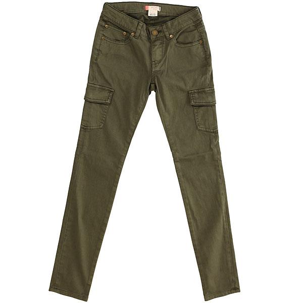 Штаны прямые детские Roxy Timetoknow G Dusty Olive<br><br>Цвет: зеленый<br>Тип: Штаны прямые<br>Возраст: Детский