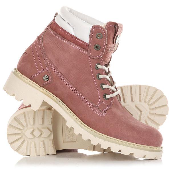 Ботинки зимние женские Wrangler Creek Nubuck Fur Winter RoseОтличные женские ботинки от Wrangler. Вы можете носить данную модель ранней весной, осенью и зимой. Не взирая на погодные условия, Вы можете наслаждаться как городскими индустриальными пейзажами, так прохладными вечерами вдали от города.Характеристики:Верх из нубука. Утепленная внутренняя отделка из искусственного меха. Цельнокроеный носок. Усиленный смягченный манжет с кожаной окантовкой.Классическая круглая шнуровка с тонированными люверсами.Широкий массивный язычок с тиснением. Цепкая прошитая подошва с невысоким каблуком и абразивным протектором.<br><br>Цвет: розовый<br>Тип: Ботинки зимние<br>Возраст: Взрослый<br>Пол: Женский