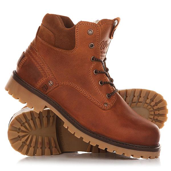 Ботинки зимние Wrangler Yuma Fur RustОтличные мужские ботинки от Wrangler. Вы можете носить данную модель ранней весной, осенью и зимой. Не взирая на погодные условия, Вы можете наслаждаться как городскими индустриальными пейзажами, так прохладными вечерами вдали от города.Характеристики:Характеристики:Верх из кожи. Утепленная внутренняя отделка из искусственного меха. Цельнокроеный носок.Усиленный смягченный манжет.Классическая круглая шнуровка с тонированными люверсами. Широкий массивный язычок с тиснением. Цепкая прошитая подошва с невысоким каблуком и абразивным протектором.<br><br>Цвет: коричневый<br>Тип: Ботинки зимние<br>Возраст: Взрослый<br>Пол: Мужской