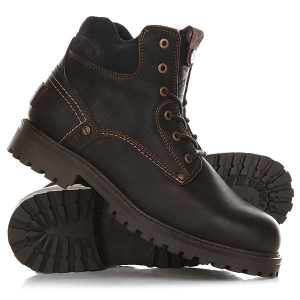 Ботинки зимние Wrangler Yuma Leather Fur Dark Brown