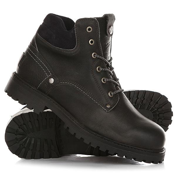 Ботинки зимние Wrangler Yuma Leather Fur Anthracite BlackОтличные мужские ботинки от Wrangler. Вы можете носить данную модель ранней весной, осенью и зимой. Не взирая на погодные условия, Вы можете наслаждаться как городскими индустриальными пейзажами, так прохладными вечерами вдали от города.Характеристики:Характеристики:Верх из кожи. Утепленная внутренняя отделка из искусственного меха. Цельнокроеный носок.Усиленный смягченный манжет.Классическая круглая шнуровка с тонированными люверсами. Широкий массивный язычок с тиснением. Цепкая прошитая подошва с невысоким каблуком и абразивным протектором.<br><br>Цвет: черный<br>Тип: Ботинки зимние<br>Возраст: Взрослый<br>Пол: Мужской