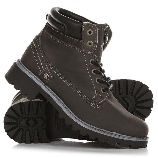 Ботинки зимние женские Wrangler Creek Ch Fur AnthraciteОтличные женские ботинки от Wrangler. Вы можете носить данную модель ранней весной, осенью и зимой. Не взирая на погодные условия, Вы можете наслаждаться как городскими индустриальными пейзажами, так прохладными вечерами вдали от города.Характеристики:Верх из кожи. Утепленная внутренняя отделка из искусственного меха. Цельнокроеный носок. Усиленный смягченный манжет с кожаной окантовкой.Классическая круглая шнуровка с тонированными люверсами. Широкий массивный язычок с тиснением. Цепкая прошитая подошва с невысоким каблуком и абразивным протектором.<br><br>Цвет: Темно-серый<br>Тип: Ботинки зимние<br>Возраст: Взрослый<br>Пол: Женский