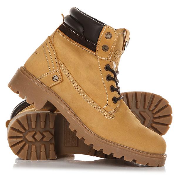 Ботинки зимние женские Wrangler Creek Nubuck Fur TanОтличные женские ботинки от Wrangler. Вы можете носить данную модель ранней весной, осенью и зимой. Не взирая на погодные условия, Вы можете наслаждаться как городскими индустриальными пейзажами, так прохладными вечерами вдали от города.Характеристики:Верх из нубука. Утепленная внутренняя отделка из искусственного меха. Цельнокроеный носок. Усиленный смягченный манжет с кожаной окантовкой.Классическая круглая шнуровка с тонированными люверсами.Широкий массивный язычок с тиснением. Цепкая прошитая подошва с невысоким каблуком и абразивным протектором.<br><br>Цвет: бежевый<br>Тип: Ботинки зимние<br>Возраст: Взрослый<br>Пол: Женский