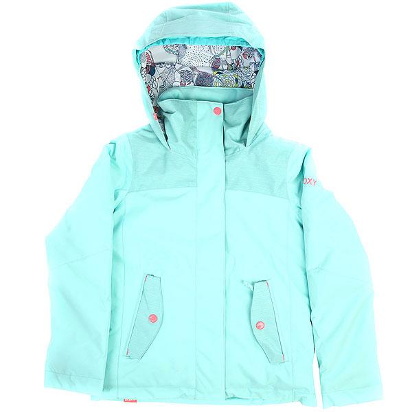 Куртка утепленная детская Roxy Rx Jetty Aruba BlueСноубордическая куртка ROXY Jetty с мембраной 10K ROXY DryFlight®.Технические характеристики: Водостойкая мембрана 10K ROXY DryFlight®.Саржа из полиэстера.Классический крой.Утеплитель Warmflight® (тело — 200 г, рукава — 140 г, капюшон — 60 г).Подкладка из тафты со вставками из трикотажа с начесом.Все основные швы проклеены.Удобный капюшон совместим со шлемом.Карманы для рук, карман для скипасса.Фиксированная снежная юбка.Застежка на молнию с ветрозащитным клапаном.<br><br>Цвет: Светло-голубой<br>Тип: Куртка утепленная<br>Возраст: Детский