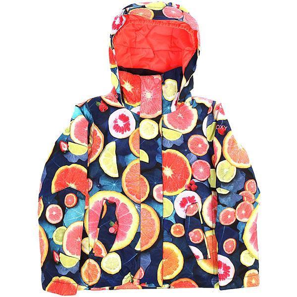 Куртка утепленная детская Roxy Jet Girl Lemon TonicСноубордическая куртка ROXY Jetty с мембраной 10K ROXY DryFlight®.Технические характеристики: Водостойкая мембрана 10K ROXY DryFlight®.Саржа из полиэстера.Классический крой.Утеплитель Warmflight® (тело — 200 г, рукава — 140 г, капюшон — 60 г).Подкладка из тафты со вставками из трикотажа с начесом.Все основные швы проклеены.Удобный капюшон совместим со шлемом.Карманы для рук, карман для скипасса.Фиксированная снежная юбка.Застежка на молнию с ветрозащитным клапаном.<br><br>Цвет: мультиколор<br>Тип: Куртка утепленная<br>Возраст: Детский