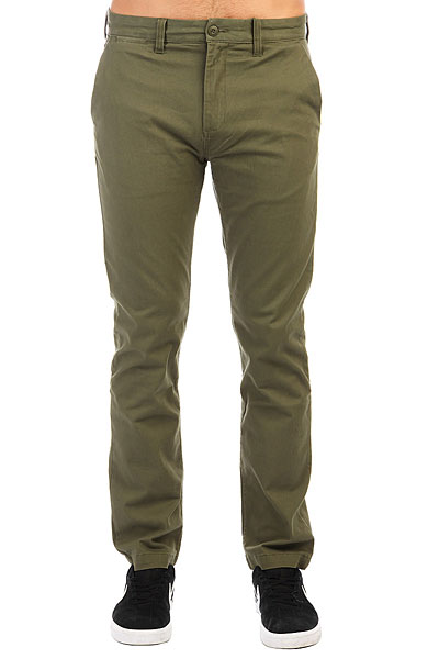 Штаны прямые DC Wrk Str Chino Vintage Green штаны прямые billabong new order chino khaki