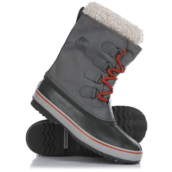 Ботинки зимние Sorel 1964 Pac Nylon Dark Fog Shark<br><br>Цвет: серый,черный<br>Тип: Ботинки зимние<br>Возраст: Взрослый<br>Пол: Мужской