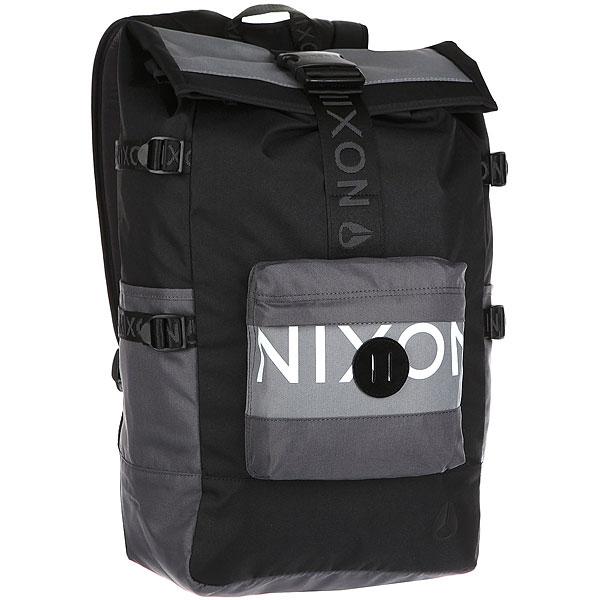 Рюкзак туристический Nixon Swamis Backpack Black/Dark Gray<br><br>Цвет: черный,серый<br>Тип: Рюкзак туристический<br>Возраст: Взрослый<br>Пол: Мужской