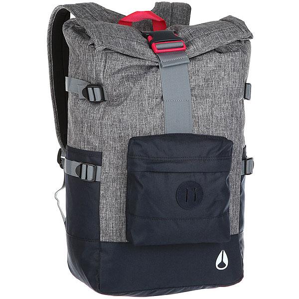Рюкзак туристический Nixon Swamis Backpack Black Wash/Navy рюкзак муской nixon smith backpack se 21l khaki heather o s