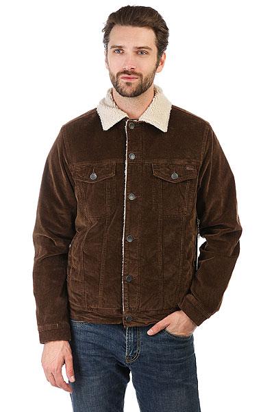 Куртка Billabong Barlow Trucker BarkКлассическая куртка с современным комфортом дополненная теплой подкладкой из шерпы. Коллекция Surfplus.Технические характеристики: Материал - вельвет.Подкладка и воротник из шерпы.Нагрудные карманы, карманы для рук и потайной карман.Застежка на пуговицы.<br><br>Цвет: коричневый<br>Тип: Куртка<br>Возраст: Взрослый<br>Пол: Мужской